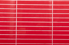 Red Tile glossy mosaic Stock Photo