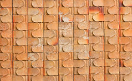 Red Tile glossy mosaic Earthenware material Stock Photos