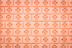 Red Tile glossy mosaic Earthenware material Stock Photo