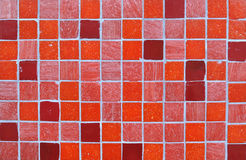 Red Tile Mosaic Background Royalty Free Stock Photo