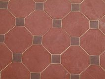 Red tile pattern. Red tile background stock photo