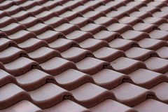 Red tile roof Stock Photos