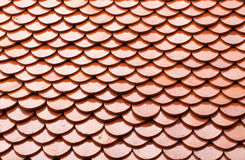 Red tile of roof Royalty Free Stock Image