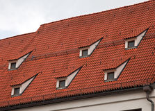 Red tile roof in Munich, Germany Stock Image