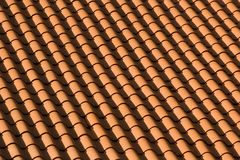 Red Tile Roof Patterns Stock Images
