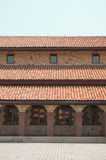 Red Tile Roof Patterns and windows Royalty Free Stock Photo
