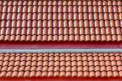 Red tile roof. Two story Stock Images