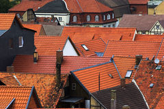 Red tile roofs. In Germany Royalty Free Stock Photography