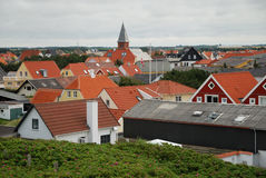 Red tile roofs of the European town Royalty Free Stock Photo