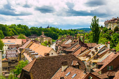 Red tile roofs of old buildings in Bern, Switzerland Royalty Free Stock Photography