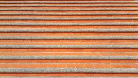 Red tile stairs. Red earthenware ceramic tile stairs stock photography