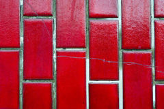 Red tile wall Royalty Free Stock Photo