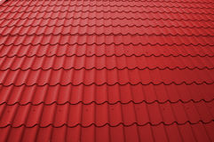 Red Tileable Roof. Texture. Perspective Stock Images