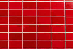 Red tiled background Stock Photography