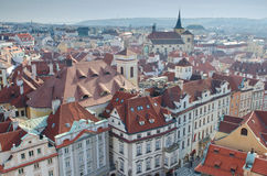 Red Tiled Prague roofs, Czech Republic Royalty Free Stock Photography