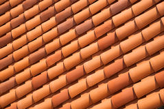 Red tiled roof background Stock Photo