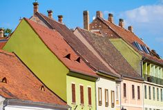 Red tiled roof of Budapest Old Town Royalty Free Stock Photography