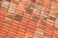 Red tiled roof on house. Red tiled roof on the house stock images