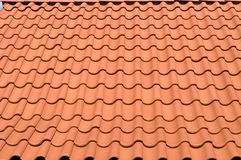 Red tiled roof Stock Photo
