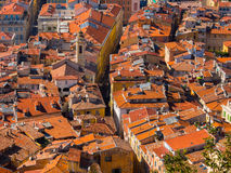 Red tiled roof of Nice, France Royalty Free Stock Photos