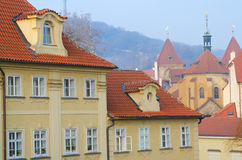 Red Tiled Roof Tops, Kampa Island, Prague Royalty Free Stock Photography