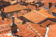 Red tiled roofs in Dubrovnik Stock Photo