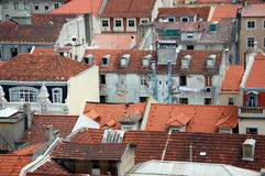Red tiled roofs of Lisbon, Portugal Stock Images