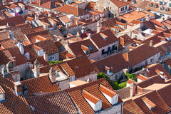 Red tiled roofs of the old town in Dubrovnik Royalty Free Stock Image