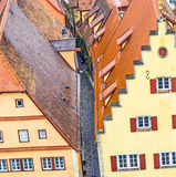 Red tiled roofs in the Old Town of Rothenburg ob der Tauber Royalty Free Stock Images