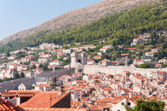 Red tiled rooftops in city of Dubrovnik Stock Photography