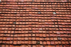 Red tiles. A photo of a roof with red tiles Stock Photography