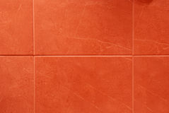 Red tiles. Close up of bathroom or kitchen red tiles Stock Photography