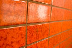 Red tiles. A pattern of red tiles Stock Image