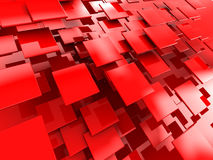 Red tiles background Stock Photos