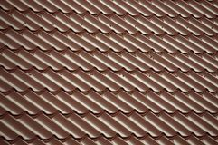 Red  tiles that cover the roof royalty free stock photography