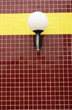 Red tiles and lights Royalty Free Stock Photography
