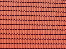 Red tiles of modern rooftop Stock Image
