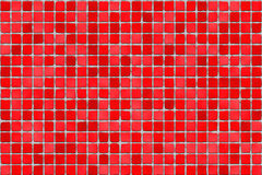 Red tiles - mosaic royalty free stock image