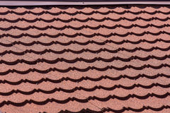 Red tiles roof background. Stock Images