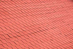 Red Tiles on a Roof Background Royalty Free Stock Photography