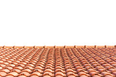 Red tiles roof isolated on white Stock Images