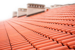Red tiles on roof Royalty Free Stock Image