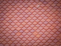 Red tiles roof pattern background Stock Photography