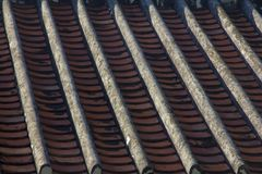 Red tiles roof royalty free stock image