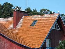 Red tiles roof Stock Images