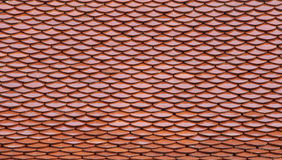 Red tiles roof. In temple Bangkok, Thailand, architecture background Stock Photography