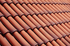 Red tiles roof texture architecture background Royalty Free Stock Photography