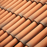 Red tiles roof texture architecture background Stock Photography
