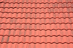 Red tiles roof Stock Photo