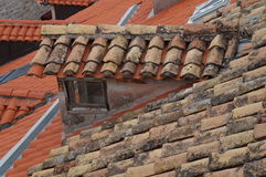 Red tiles roofs in old town of Dubrovnik Stock Images